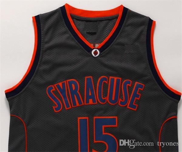 Hombre Syracuse Orange Camerlo Anthony College Basketball Jerseys Camerlo Anthony N.º 15 camisetas Jersey de baloncesto de la universidad barata