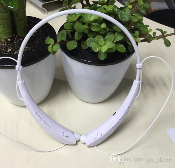Cor branca transfronteiriça vendas quentes de comércio exterior Pescoço pendurou um fone de ouvido bluetooth esporte evitar suor fone de ouvido sem fio para iphone 7
