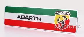 3D Car Sticker Aluminum alloy Badge Emblem Sticker For Abarth 80x30mm 100x24 60x53mm available