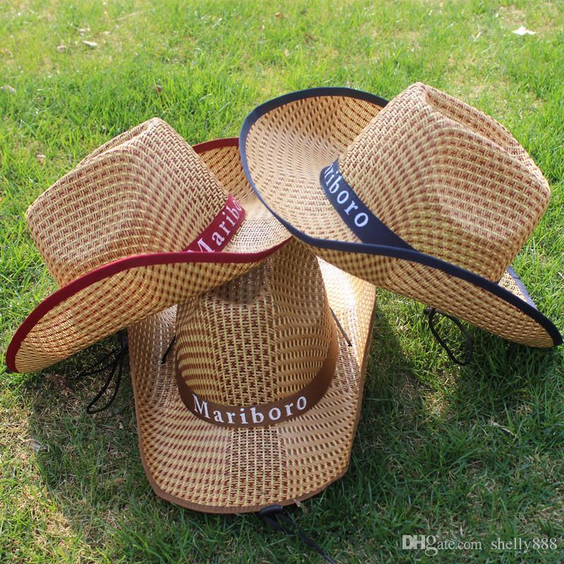 e7a425e37caf1 Compre Chapéu De Cowboy Dos Homens Pode Ser Personalizado Chapéu De Palha