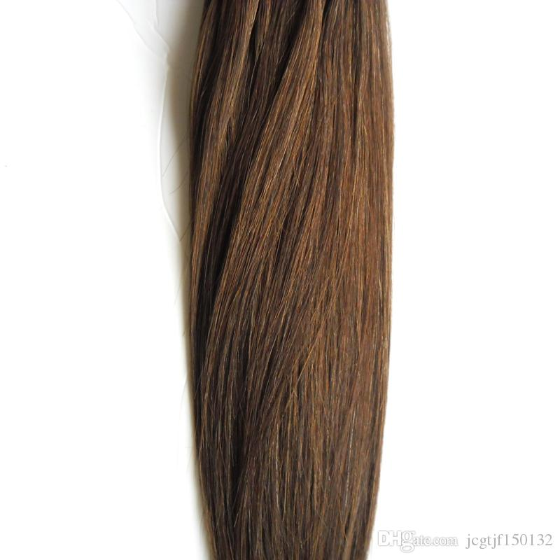#6 Medium Brown micro ring hair extensions 100g 1g/s micro bead hair extensions 100s Apply Natural Micro Link Hair Extensions Human