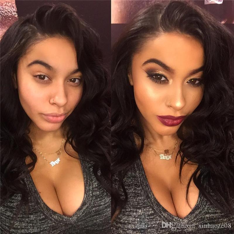 Brezilyalı Bakire Saç Peruk Vücut Dalga Dantel Ön İnsan Saç Peruk Siyah Kadınlar Için Ücretsiz Kısmı Tutkalsız Tam Dantel Peruk Bebek Saç Ile