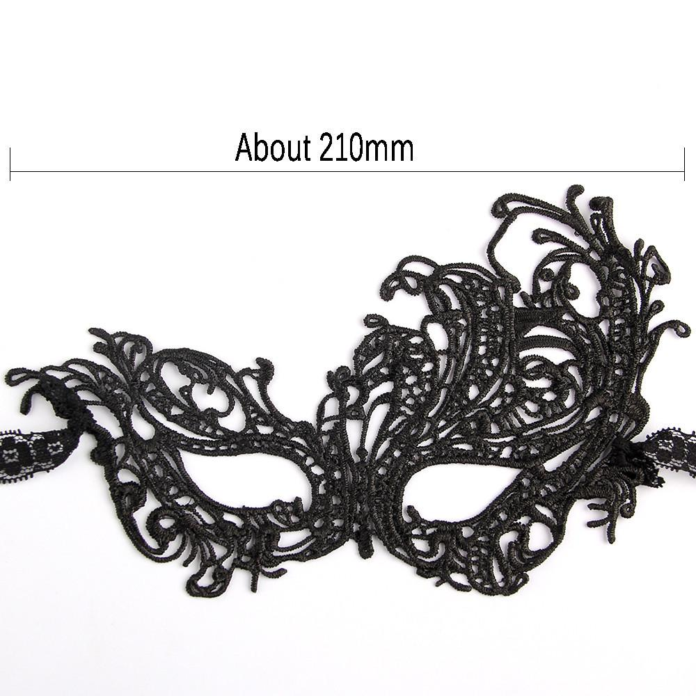 Wholesale Beautiful Lady Black Lace Mask Cutout Floral Eye Mask ...
