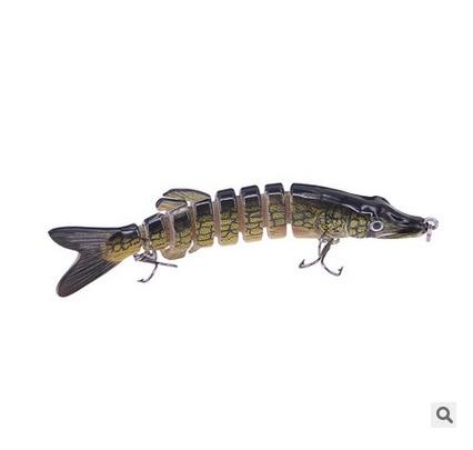 2017 Wholesale Price 8 Multi-section Fishing Lures with Double Fishing Hooks and 13cm 20g Simulation Hard Baits for Saltwater Trolling
