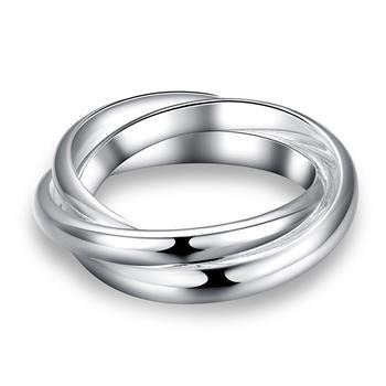Al por mayor - Regalo de Navidad al por menor precio más bajo, envío gratis, nuevo anillo de plata 925 yR167