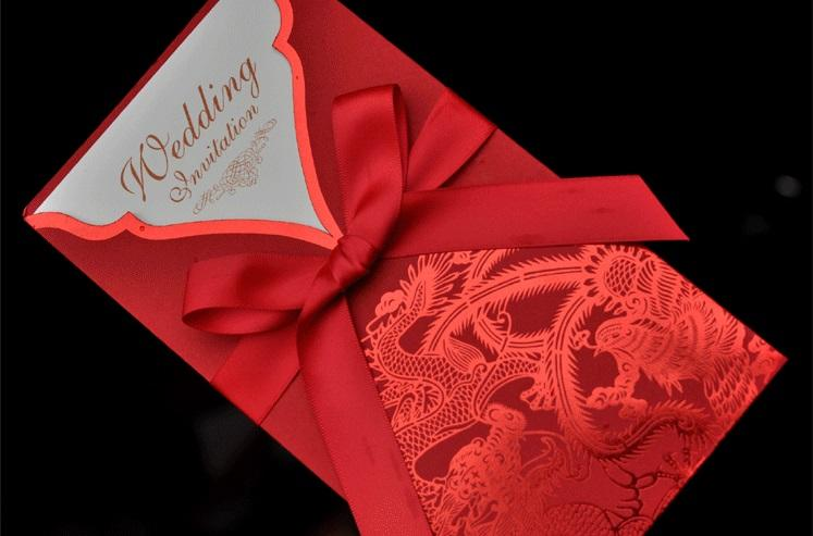 Customized Invitation Creative Chinese style wedding greeting CARDS laser hollow out Business gifts message birthday Holiday Business CARDS