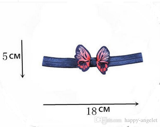 newest stretchy Hairbands hair Accessories with 3D simulation butterfly hair bows flowers headbands hair band SG8649