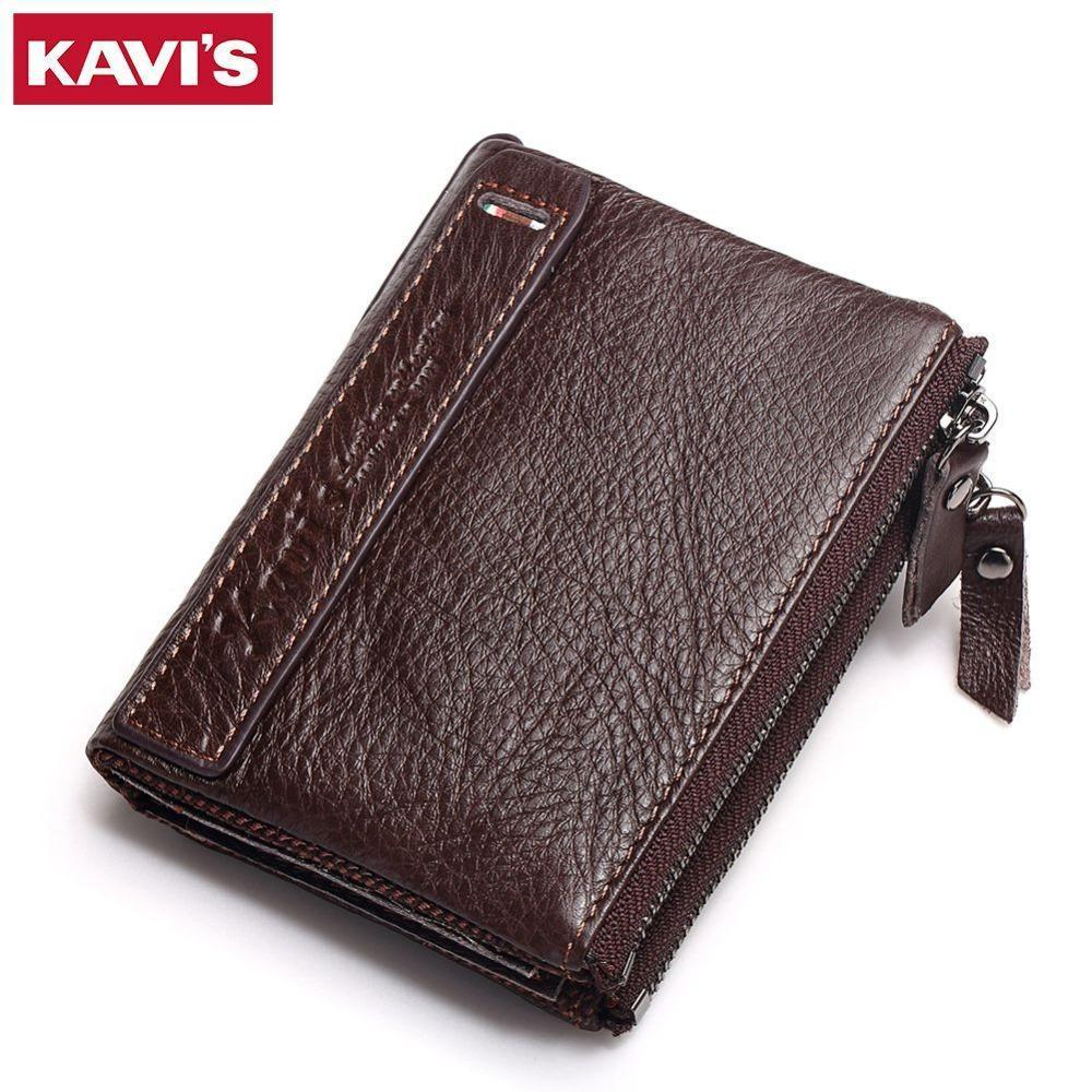 Nice Kavis Brand Leather Men Wallets Top Quality Genuine Leather