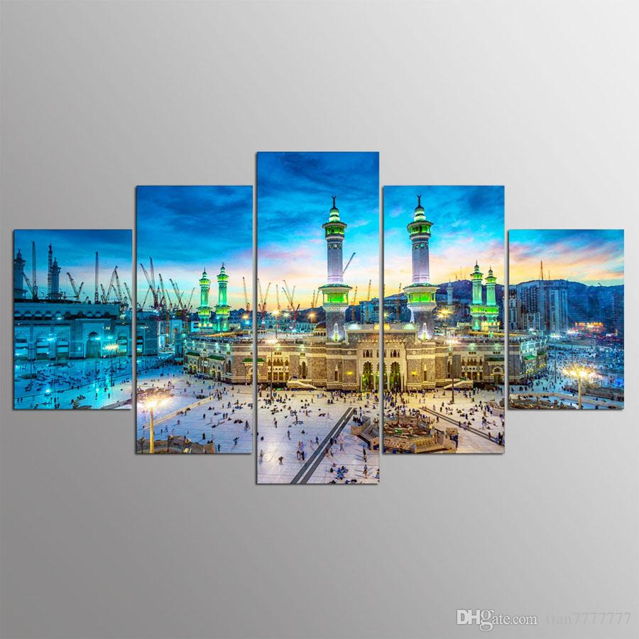 New Mosque Canvas Painting Islamic Art Pictures For Home Wall Decor Room Printed Poster Painting No Frame