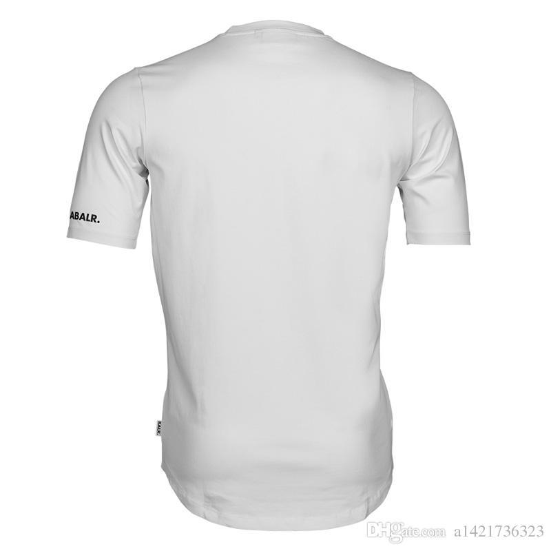 2017 homens novo balr camiseta t camisa homme de algodão tops carta impressão marca clothing rodada camiseta de fitness tamanho euro t-shirt