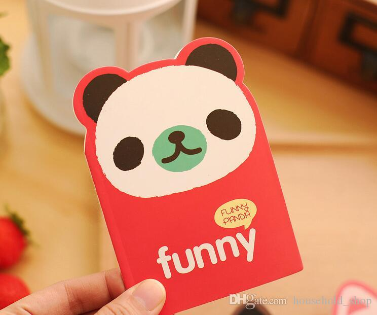 Cute Notebook Animal Paper Note Mini Note Book for Students Paper Notepad Stationary for Office Cat Panda Bear