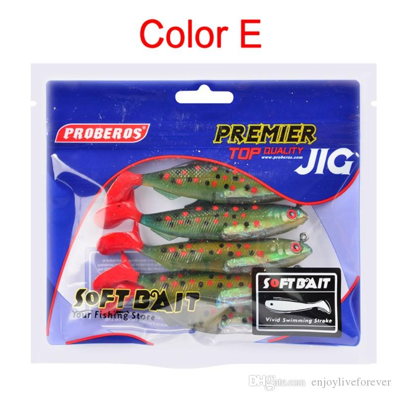 Silicone Shad Fishing Lures 21g Soft Plastic Fishing Baits Combo 10.5cm Lifelike Leads Lure for All Water