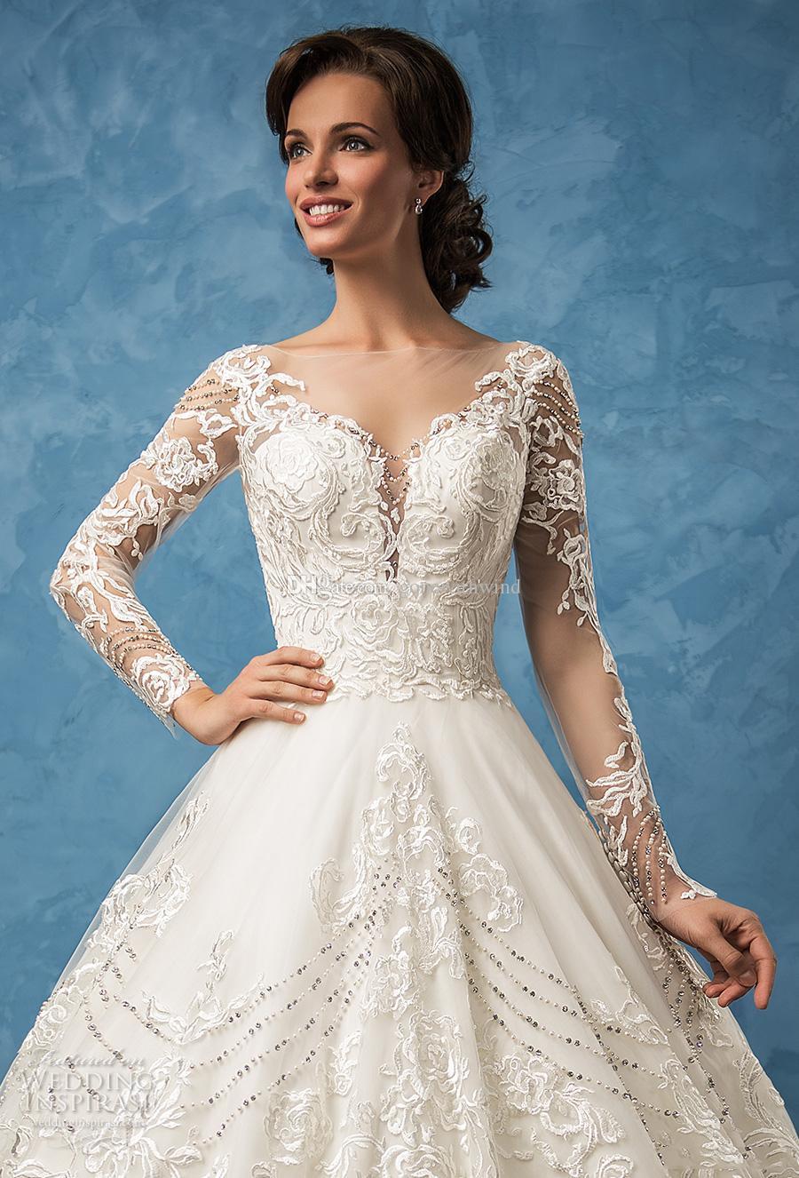 long sleeve vintage wedding dresses 2017 amelia sposa bridal ...