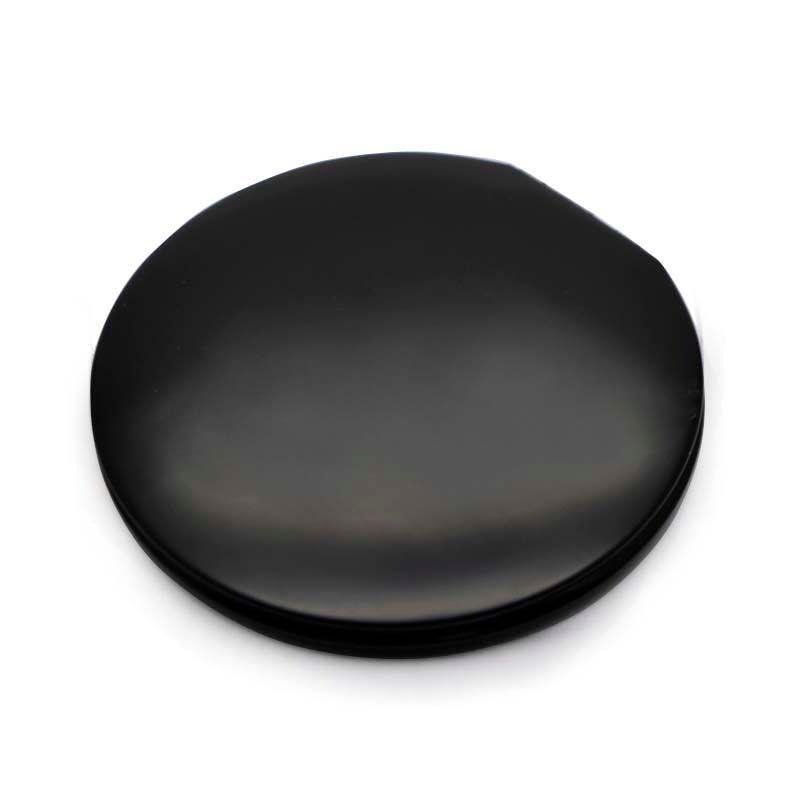 Personalized Custom Compact Mirror Engraved Pocket Mirror Matte Black Color + Velvet Bag M068C DHL