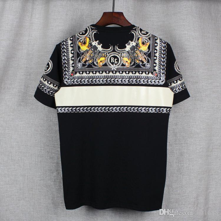 2017 moda marka Erkek T-Shirt Erkekler Kısa Kollu Gömlek Casual tişört Tee Kısa Kollu köpek baskı ile Mens Tops