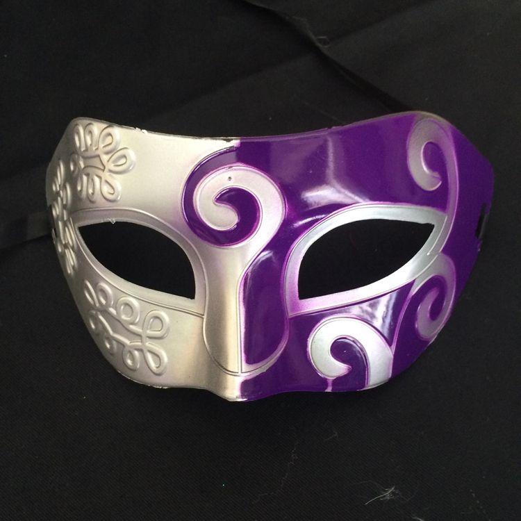 Rétro Gladiator Halloween Party romain visage Masque de mascarade Dance Party Masque vénitien Hommes Masque couleurs assorties