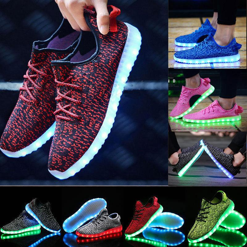 9fedc87bfcdd9 Acheter Les Chaussures De LED Allument Des Baskets Clignotantes Colorées  Avec La Charge D USB Unisexe Fluorescent Portent Des Chaussures De Partie  Des ...