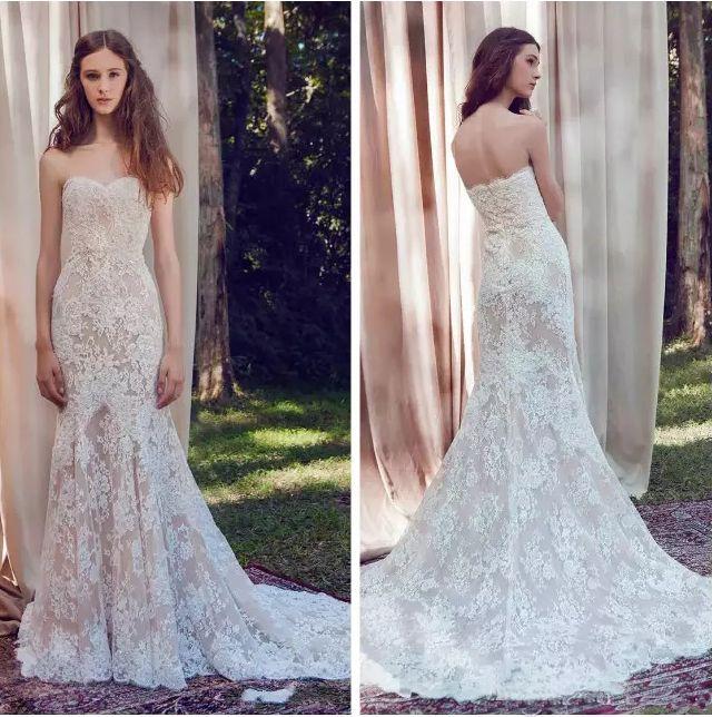 New Lavish Lace Mermaid Wedding Dresses 2018 Appliqued Sweetheart ...
