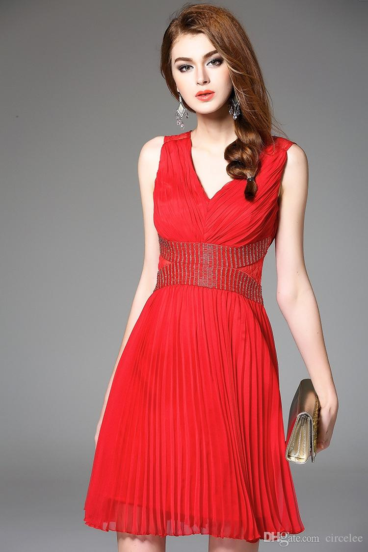 Red Party Dresses Online Cheap Sexy Short Prom Dress Chiffon Special ...