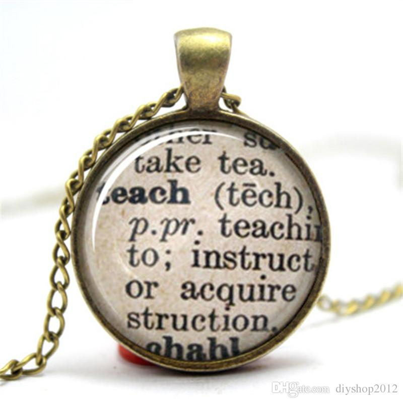 Wholesale teach dictionary definition teacher necklace diamond wholesale teach dictionary definition teacher necklace diamond heart pendant necklace snowflake pendant necklace from diyshop2012 2819 dhgate aloadofball Image collections