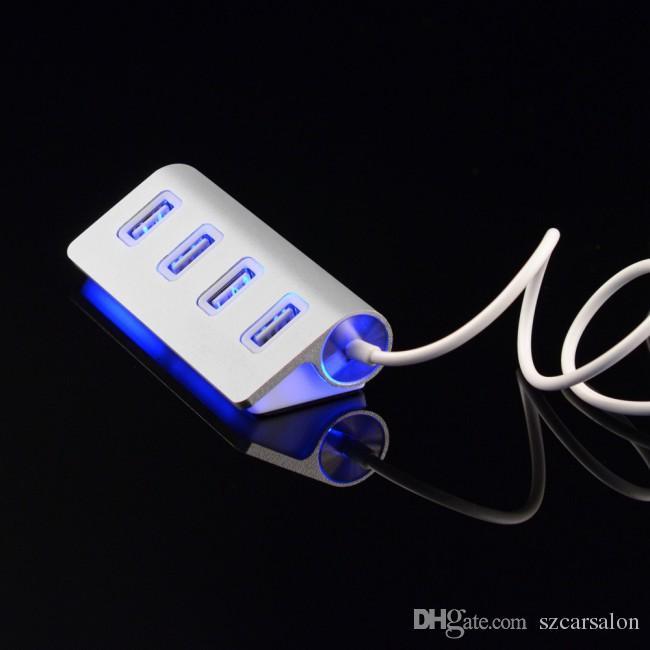 스마트 PC 노트북 알루미늄 마그네슘 합금 USB 2.0 어댑터은 충전 4 포트 USB 허브 고속