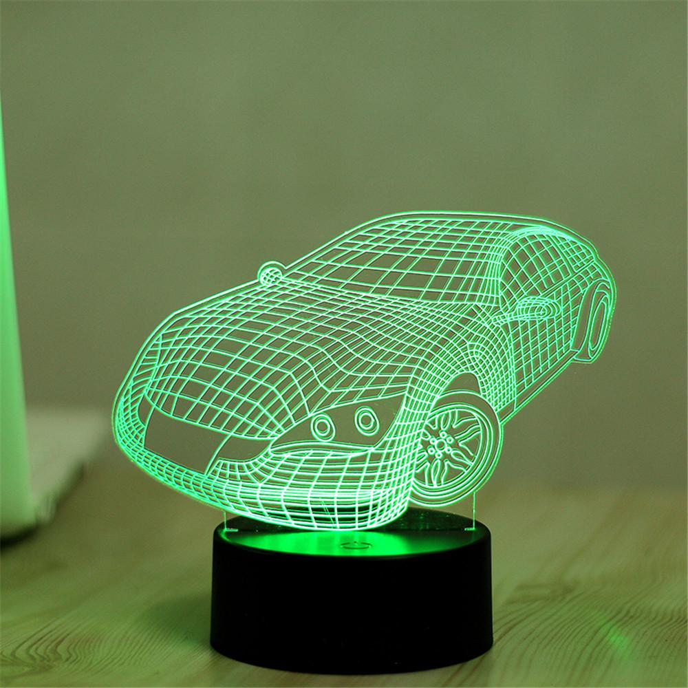 2017 Wholesale Luxury Car 3d Visual Led Night Lights For Kids Touch ...