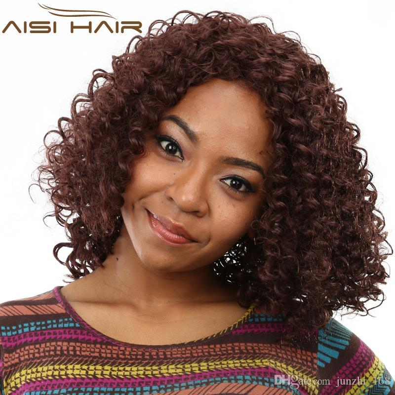 18 Fashion Black Women Quality Red Long Kinky Curly Hair Wig Heat