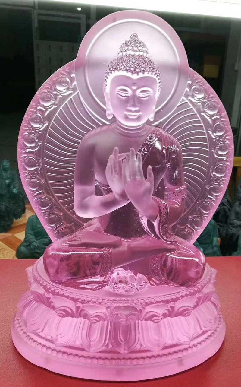 New Buddha statue pharmaciens lapis lazuli lumière 7 couleurs bleu vert blanc ambre glaçure médecine gourou statue de Bouddha bouddhisme statue dans le pays