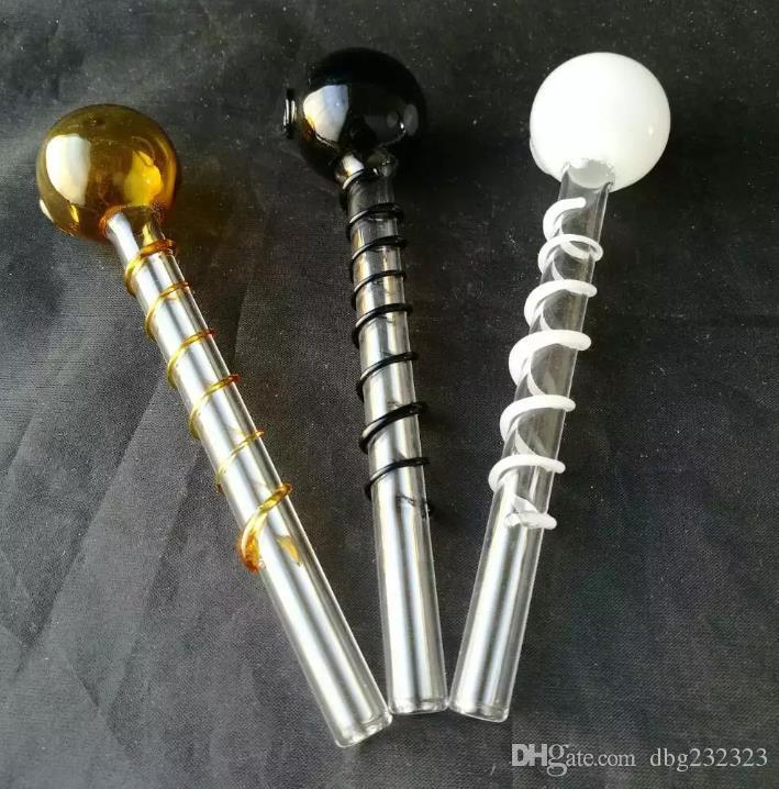 Fil de couleur en verre brûlant pot --- pipes Tubes de brûleurs à mazout en verre incurvé avec différents tubes colorés de pipe à eau d'équilibreur