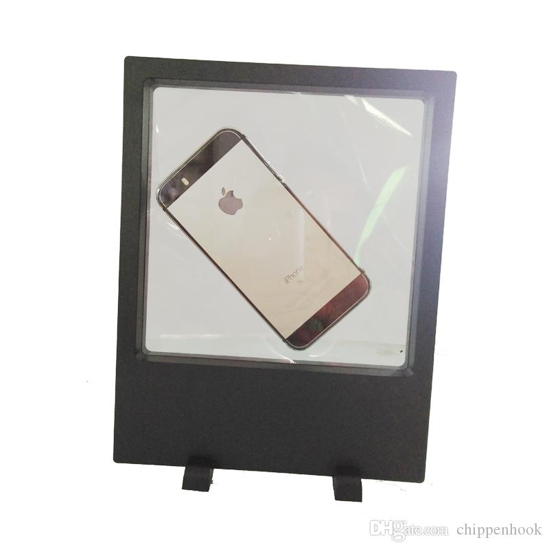 Big Size Transparent Acrylic Jewelry Display Box PET Membrane Phone Picture Necklace 3D suspension display stand 18*23 cm