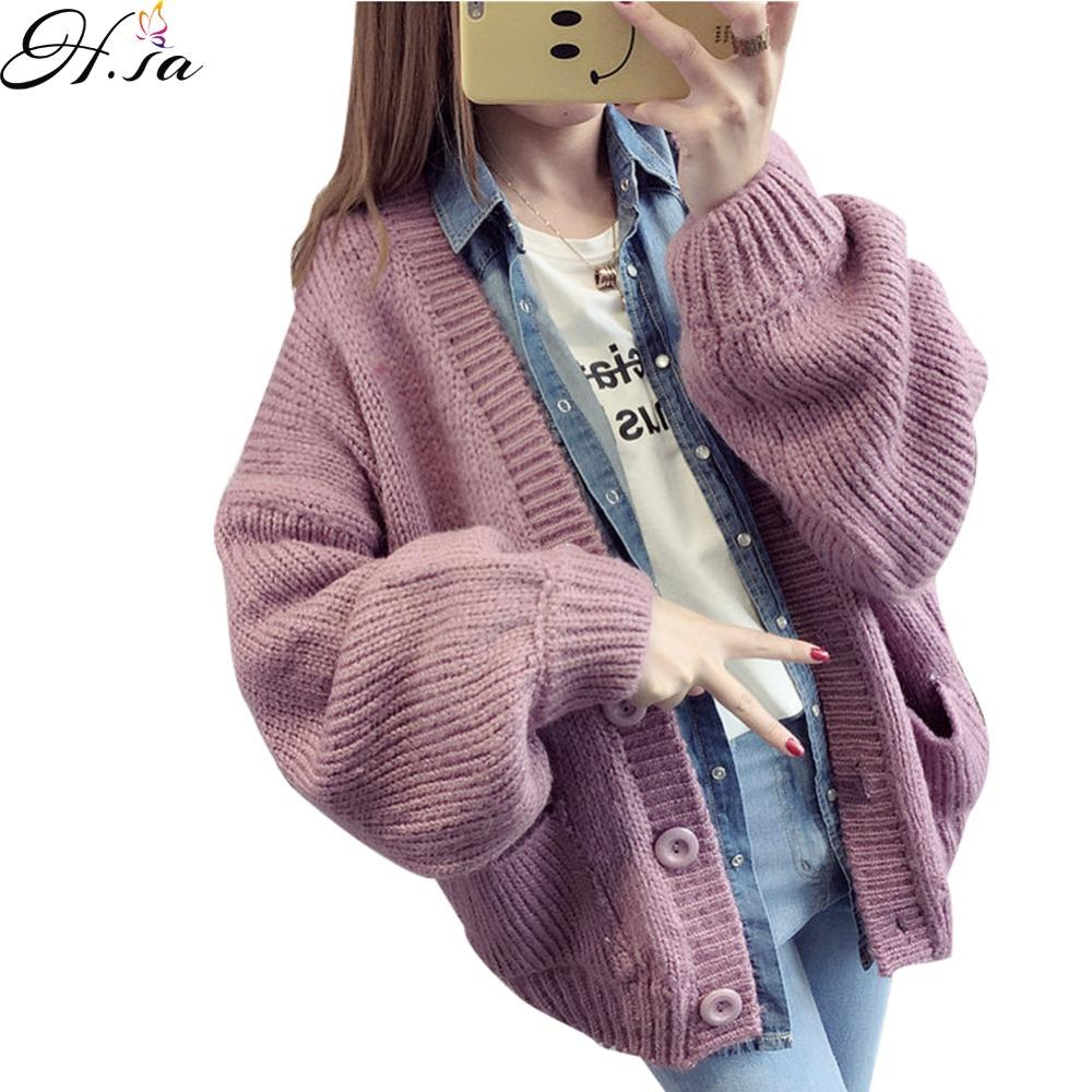 db753b01b 2019 Wholesale 2016 Women Sweater Cardigans V Neck Button Loose ...
