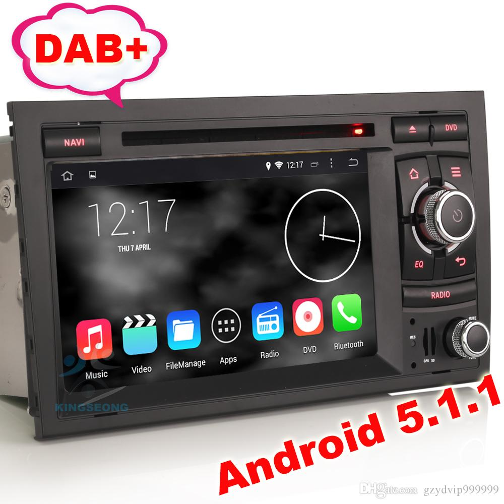 Android 5.1 Car MultimediaCar Dvd/Audio/Radio/Gps System For Audi A4 ...