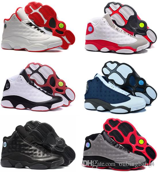 b88afb17157 Cheap 13s 13 Bred Chicago Flints Men Basketball Shoes New DMP Grey Toe  History Of Flight All Star Sports Sneakers With Box Basketball Shoe Mens  Sneakers ...