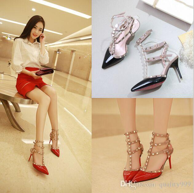 New Ladies Sexy High Heels Women Fashion Sexy Personality Hollow ...