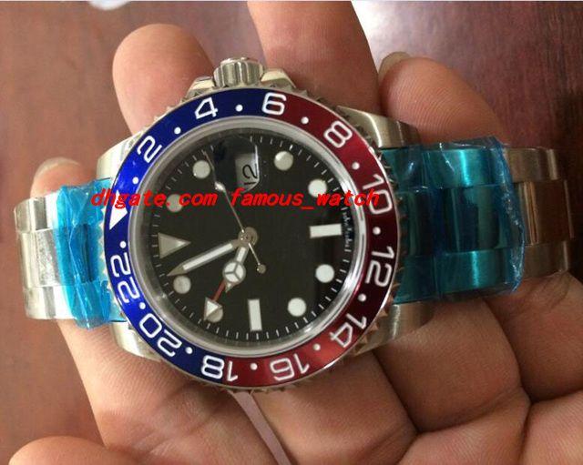 Neue Mode Luxus Armbanduhr 2836 Bewegung NEU 116719 Rot Blau Keramik Lünette 18 Karat Weißgold Automatische Bewegung Männer Uhren Top-qualität