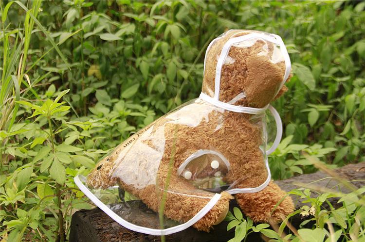 Оптовая-прозрачный собака водонепроницаемый плащ pet пончо с капюшоном pet пончо одежда для собак дождливый день IA004