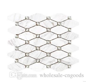 Venda direta da fábrica resistentes ao desgaste octogonal material de mármore natural decoração de Casa O quarto configuração da parede da telha cerâmica