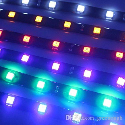 5050smd мягкий 30 см водонепроницаемый светодиодный гибкий свет автомобиля автомобиль мотор гриль полосы 12V белый красный синий зеленый желтый декоративные полосы света 50 шт.