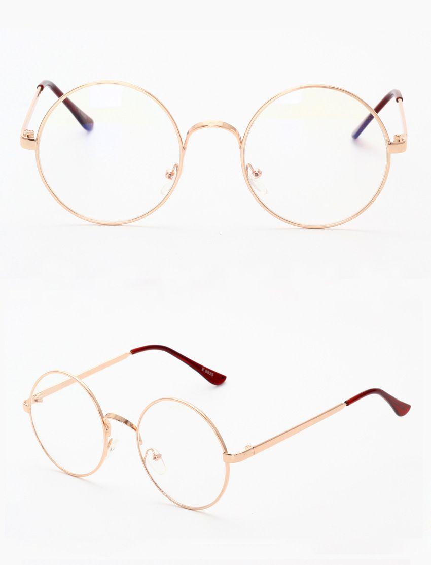 e080b98689 2019 Harry Potter Vintage Retro Metal Frame Clear Lens Round Halloween  Cosplay Plain Glasses