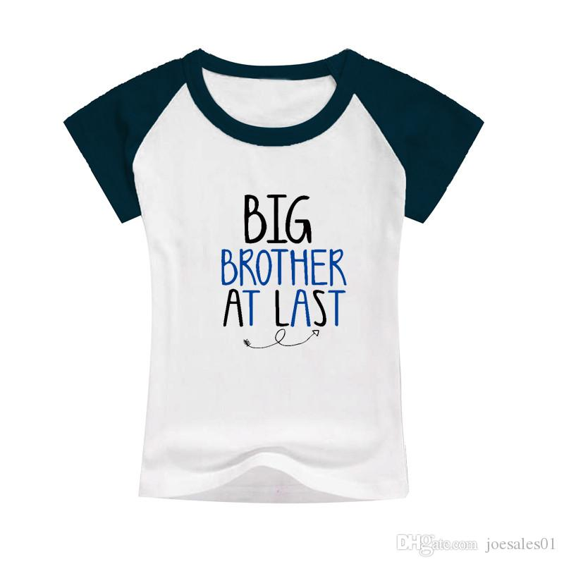 2d2d4e31dc2 2019 Boys Summer Outfits Tees Big Brother At Last Kid T Shirts Raglan  Cotton Clothes Toddler Classic Pattern Tees Tops Bulk Selling Gift For Boys  From ...