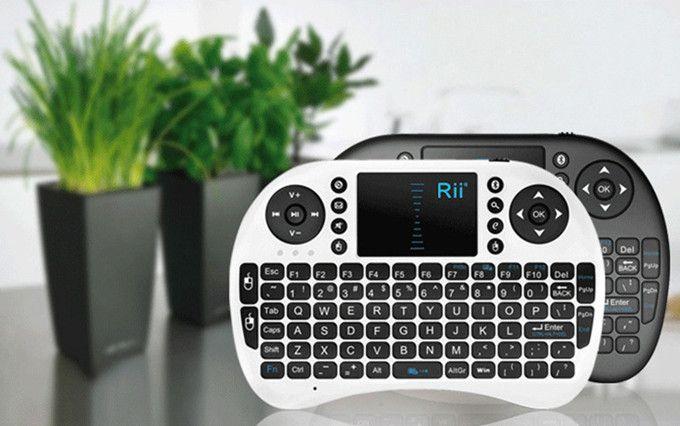 Rii i8 Remote Fly Air Mouse мини-клавиатура беспроводная 2.4 G сенсорная панель для MXQ MXIII MX3 M8 CS918 M8s Bluetooth TV BOX черный 10 шт.