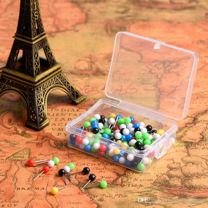 1/8 pouce Carte Pockets Push Pins Tête en plastique avec point d'acier, couleurs assorties, 400 pièces