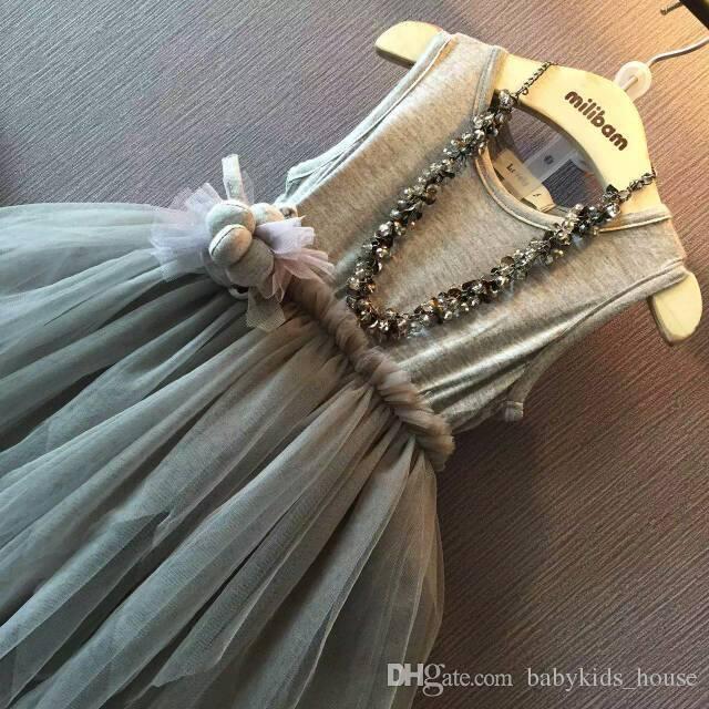 Hot Sale Summer Baby Girl Toddler irregular princess dress girls veil For Infant Princess Dress Children's Dresses kids Clothing