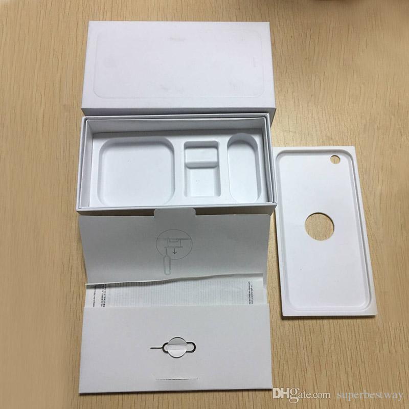 Caja de teléfono celular directo de fábrica Caja de cajas vacías para iPhone 5 6 6s 6s más 7 7s plus con accesorios completos enchufe de Estados Unidos OTH471