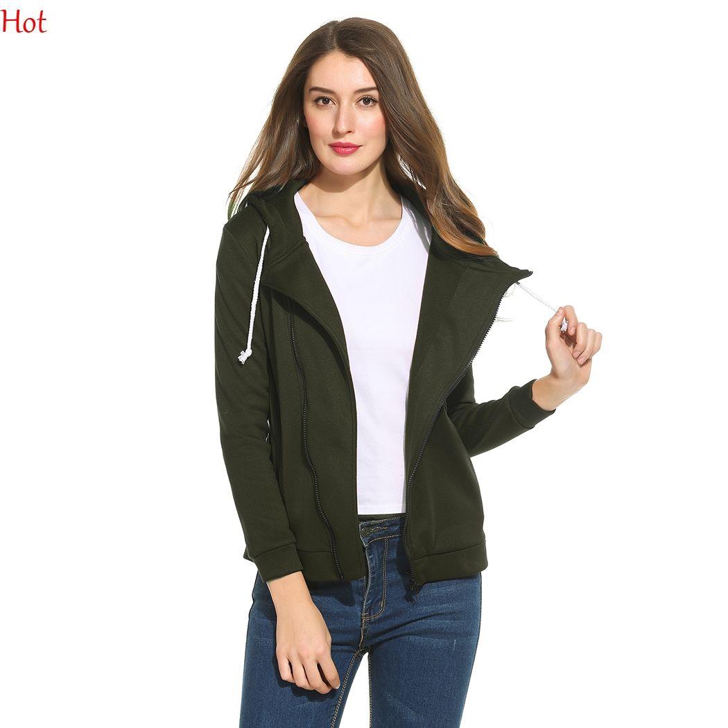 59d7aa237cb9 Fashion Plus Size Outwear Women Casual Hooded Coats Long Sleeve ...
