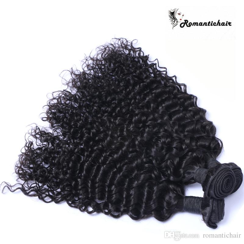 Brazilian Curly Human Hair Weaves 3 Bundles Unprocessed 8A Peruvian Malaysian Indian Cambodian Mongolian Jerry Curls Hair Extensions curly