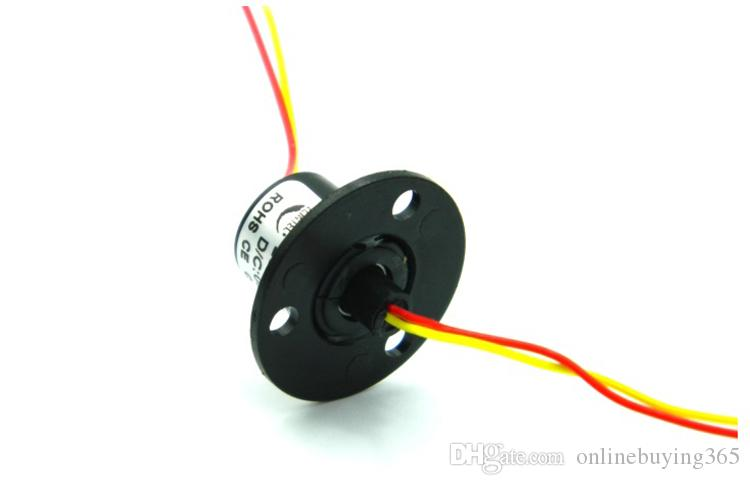 Precision Turntable Conductive Slip Ring 2 Channel 2A Out Dia. 12.5mm Mini Size Slip Rings Slip-ring