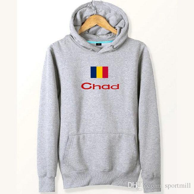 8e2889743ac42 Sweats à capuche drapeau du Tchad Sweats à capuche pour le terrain de jeu  nation Sweat à capuche pour le pays Pulls molletonnés à capuche Manteau ...