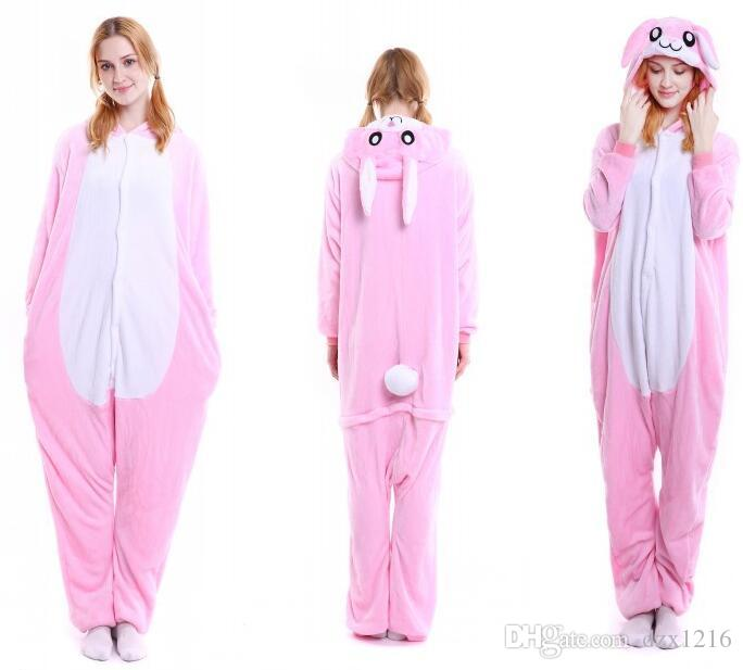 946501e39329 New Unisex Flannel Adult Pink Bunny Onesie Vampire Costumes Superman  Costume From Dzx1216
