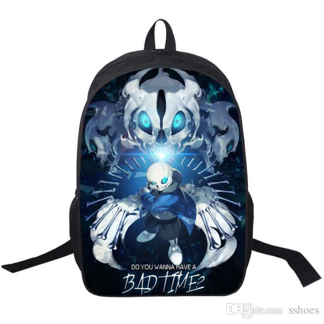 07c98ac2db 3D Printing Undertale Backpack 7 Styles Boys Girls School Bags Young Men  Women Daily Shoulder Bags Children Bookbag Rucksack Knapsack Backpack  Handbags From ...